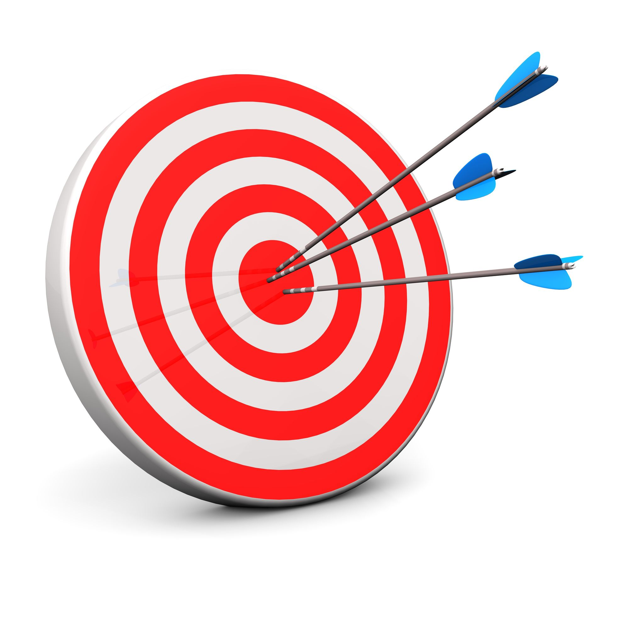 17603135 - red target with 3 arrows in the bullseye
